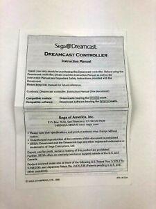 Original Instruction Booklet Manual for  Sega Dreamcast Controller