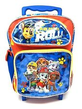 """Paw Patrol Small Toddler 12"""" inches Rolling backpack """" Is On A Roll """"- New W/tag"""