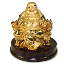 Golden Dragon Chair Buddha Statue