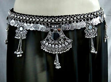 Turkey Fashion Coin Belly Dance Fusion Hip Belt Tribal Antique Kuchi Boho Gypsy