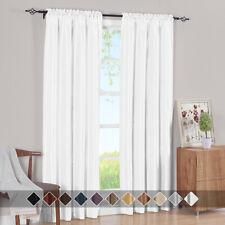 Window Curtain Panels Elegant Soho Rod Pocket Faux Silk Solid Curtains (Single)