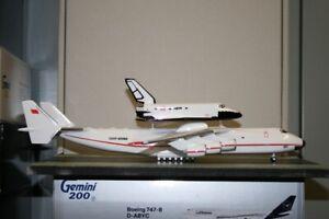 "1:200 Scale Antonov AN-225 CCCP-82060 ""Buran Space Shuttle"" Model Plane defect"