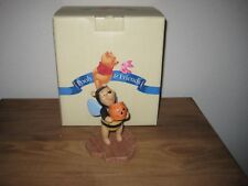 """Pooh & Friends Pooh  """"Tricks & treats for someone sweet"""" Figurine In Box"""