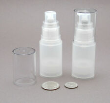 4 sm Empty refillable Airless Lotion Treatment Pump Cosmetic Bottles 15ml /0.5oz
