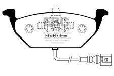 EBC Yellowstuff Front Brake Pads for Audi A2 1.4 (75 BHP) (2000 > 05)