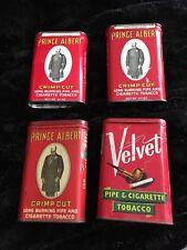 Prince Albert Crimp Cut Tobacco Tins/ Velvet Tobacco Tin