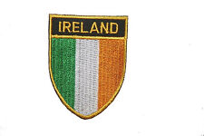 IRELAND COUNTRY FLAG OVAL SHIELD FLAG EMBROIDERED IRON-ON PATCH CREST BADGE