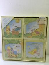 C.R GIBSON Babys First ArtWork Four Ready TO Hang DISNEY POOH CANVAS ART SET