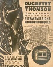 DUCRETET THOMSON/Brochure Publicitaire/1937