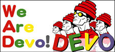 Devo 'We are Devo' contoured vinyl sticker 180mm x 80mm new wave post punk