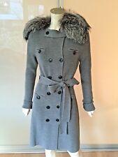 Dior chaqueta de punto gris 40 m-l punto abrigo lana Fuchs-Pelz Cardigan coat Grey