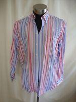 "Mens Shirt Glenmore size L, collar 16"", chest 44"", blue pink stripe, cotton 1315"