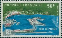 French Polynesia 1966 Sc#C43,SG55 50f Papeete Port MNH