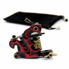 Alloy 10 Wrap Coils Tattoo Machine Tattoo Coil Machines Gun for Liner Red