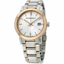 Burberry BU9006 Silver Dial Two-Tone Stainless Steel Bracelet 38mm Unisex Watch