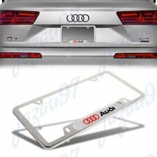 For Audi Silver Metal Stainless Steel License Plate Frame New 1Pcs (Fits: Audi)