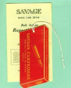Savage Arms Model 23 AA 20-30's Owners Manual Etc. Reproduction