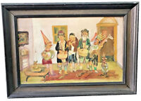 S.BALICKI (POLISH, B.1935) JEWISH JUDAICA PURIM KIDS DRESSED OIL ON CANVAS