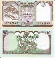NEPAL 10 RUPIAS 2012 P 70 LOTE DE 5 BILLETES