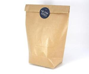 Papiertüten Geschenktüten Bodenbeutel Kraftpapier braun Gr. M gerippt