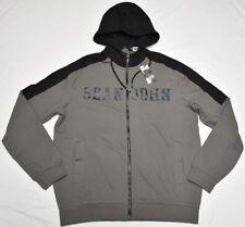 Sean John Hoodie Sweatshirt Men's Pieced Two-Tone Full-Zip Grey Black Urban P242