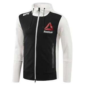 Reebok Men's X UFC FK Walkout Full Zip Long Sleeve Hoodie Jacket Tag-less NEW
