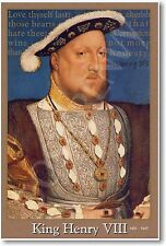King Henry VIII - British Social Studies History Classroom NEW School POSTER