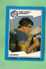 1989 PARRAMATTA EELS  STIMOROL RUGBY LEAGUE CARD  #107  MARK CLINTON