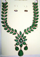 Amrita Singh Faceted Hamptons 'Dune' Necklace in Evergreen Statement Necklace