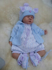 PAPER KNITTING PATTERN TO MAKE *HOPPITY* BUNNY BABY/DOLL ROMPER SET IN 3 SIZES