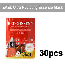 [EKEL] 30pcs Red Ginseng Ultra Hydrating Essence Facial Mask 25g Korea Cosmeitcs