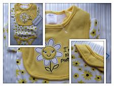 New Baby Girl I'm So Pretty Cutie Pie Cotton Bodysuit with Matching Bib  0-3 Mos