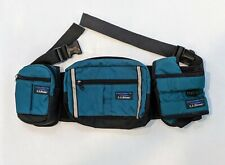 Vintage LL Bean Fanny Waist Pack Nylon Green Made in USA Water Holder Belt Bag