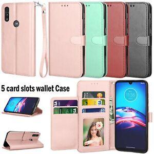 For Motorola Moto E/G Pro/Stylus/G Power 2020 Phone Wallet Case Card Slots Stand