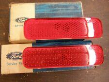 NOS OEM Ford 1972 1973 Torino Quarter Lights Lamps Lenses Pair Gran Sport Red