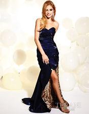 NWT $400 TERANI USA Grand Navy Prom Formal Size 6 Long Junior Cocktail Dress