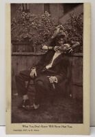 1907 RPPC What You Don't Know Will Never Hurt You, Wicked & A Drunk Postcard E18