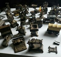 Lot Of 50 Antique Finished Metal Die Cast Miniatures Pencil Sharpners