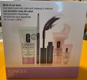 Clinique Gift Set Box 5 PC Quickliner Impact Mascara Moisture Surge Lipstick New