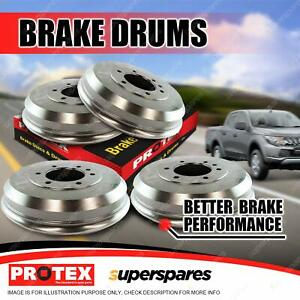 Protex Front + Rear Premium Quality Brake Drums for Chevrolet LUV Ute 72-75