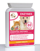Enzymes for Dogs, Cats & Puppies For Healthy Digestion, Metabolism & Immunity 60