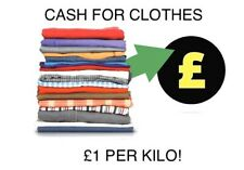 Cash For Clothes £1 Per Kilo Clothes Recycling Sell Your Clothing Used/Worn/New