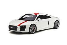 AUDI R8 V10 RWS TBC WHITE & RED 1/18 MODEL CAR BY GT SPIRIT GT247