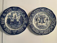 China / Dishes Avon Independence Hall Liberty Bell Bicentennial Plates Enoch