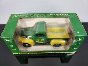 John Deere Dealers Edition 1948 Ford F-1 Pickup Die Cast Bank - Sloan Implement