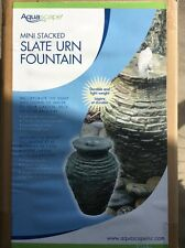 Aquascape Mini Stacked Slate Urn- fountain-garden- pond- water feature- decor