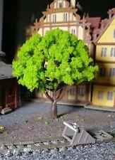 10 helllgrüne Laubbäume, Höhe 80 mm