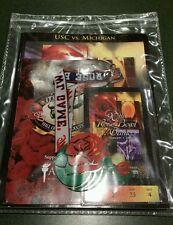 2004 Rose Bowl Program/Ticket Stub/Luncheon/Lanyard in Holder USC vs. Michigan