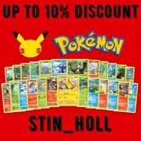 Pikachu 25//25 Pokemon 25th McDonalds HOLO /& Non Holo You Pick Combine Shipping