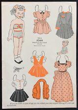 1953, Joan Mag. Paper Dolls, Wee Wisdom Mag.,Dorothy Wagstaff Artist